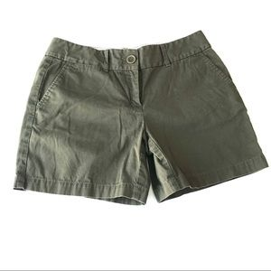 LOFT The Rivera Short Green Flat Front Chinos kk2